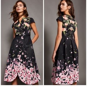 Ted Baker Fredica Peach Blossom Dress size 2